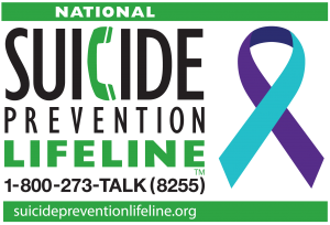 logo for National Suicide Prevention Lifeline - 1-800-273-8255
