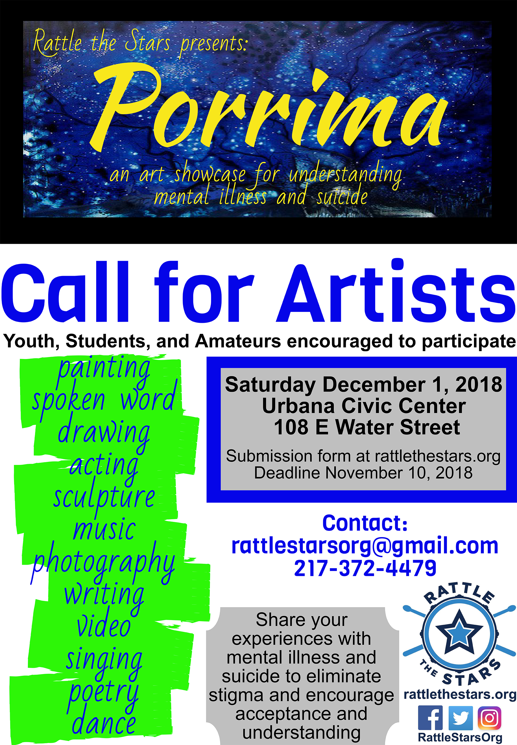 poster for Porrima art show
